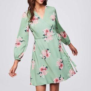 98a6cfc6 LOFT Dresses | Ann Taylor Atl Bouquet Floral Wrap Dress Euc | Poshmark
